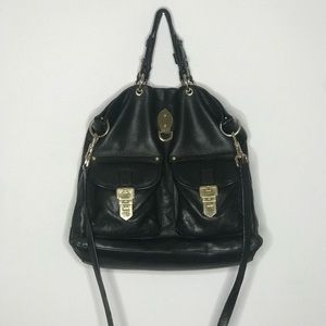 Authentic mulberry boho bag in black leather